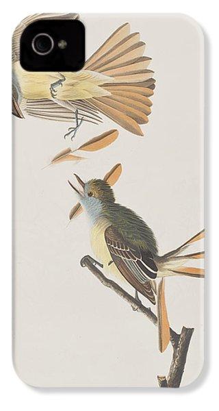 Great Crested Flycatcher IPhone 4 Case by John James Audubon