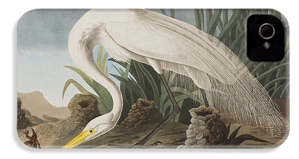 Great Egret IPhone 4 Case by John James Audubon