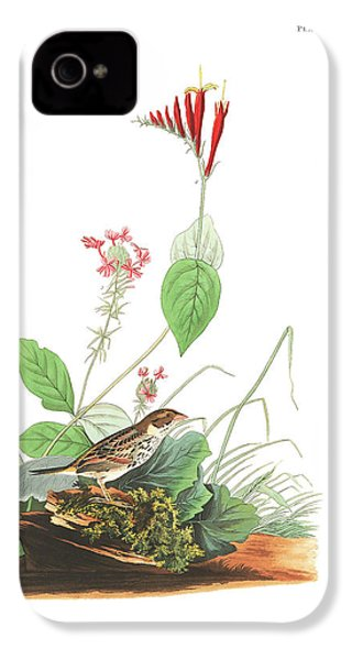 Henslow's Bunting  IPhone 4 Case by John James Audubon