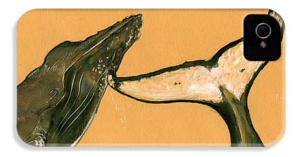 Humpback Whale Painting IPhone 4 Case by Juan  Bosco