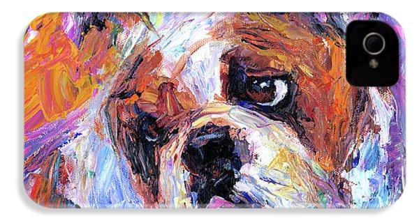Impressionistic Bulldog Painting  IPhone 4 Case
