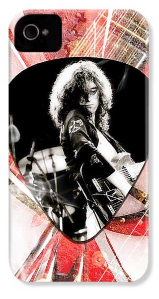 Jimmy Page Led Zeppelin Art IPhone 4 Case by Marvin Blaine