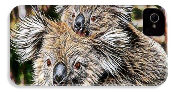 Koala Bear Mom And Child IPhone 4 Case