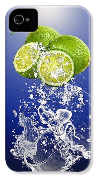 Lime Splash IPhone 4 Case