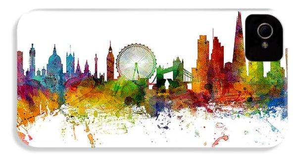 London England Skyline Panoramic IPhone 4 Case