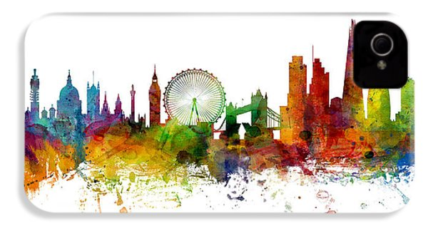 London England Skyline Panoramic IPhone 4 Case by Michael Tompsett