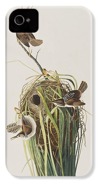 Marsh Wren  IPhone 4 Case by John James Audubon