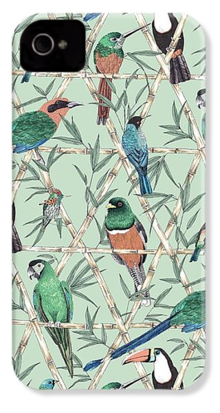 Menagerie IPhone 4 Case by Jacqueline Colley
