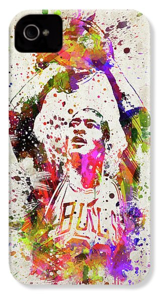 Michael Jordan In Color IPhone 4 Case by Aged Pixel