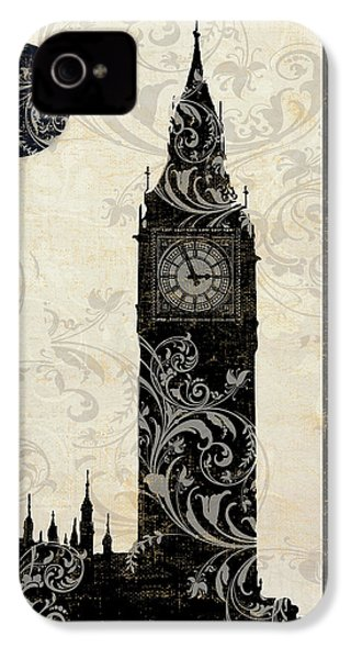Moon Over London IPhone 4 Case by Mindy Sommers