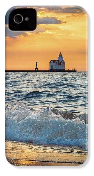 IPhone 4 Case featuring the photograph Morning Dance On The Beach by Bill Pevlor