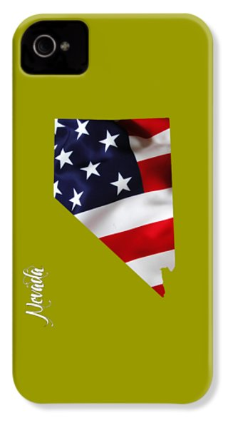 Nevada State Map Collection IPhone 4 / 4s Case by Marvin Blaine