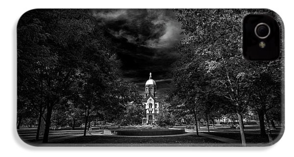 Notre Dame University Black White IPhone 4 / 4s Case by David Haskett