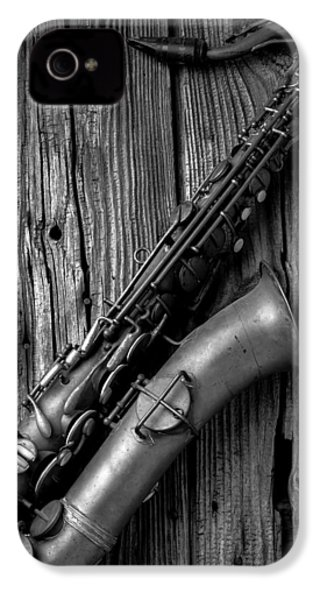 Old Sax IPhone 4 Case by Garry Gay
