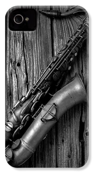 Old Sax IPhone 4 / 4s Case by Garry Gay