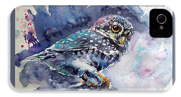 Owl At Night IPhone 4 Case by Kovacs Anna Brigitta