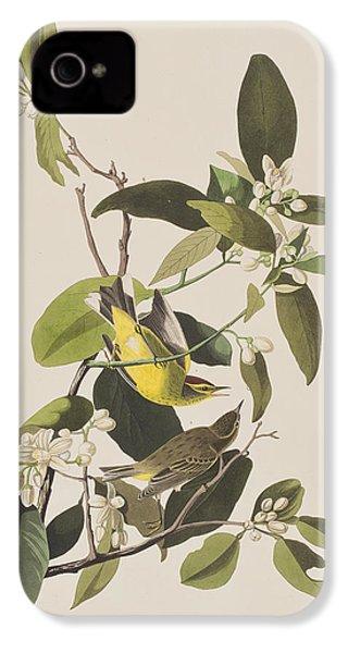 Palm Warbler IPhone 4 Case by John James Audubon
