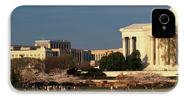 Panoramic View Of Jefferson Memorial IPhone 4 / 4s Case by Panoramic Images