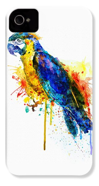 Parrot Watercolor  IPhone 4 Case by Marian Voicu