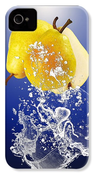 Pear Splash Collection IPhone 4 Case by Marvin Blaine