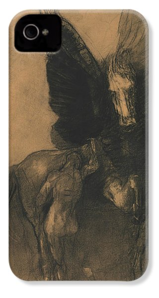 Pegasus And Bellerophon IPhone 4 / 4s Case by Odilon Redon