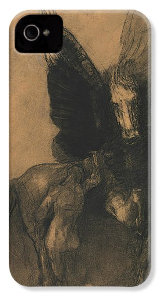 Pegasus And Bellerophon IPhone 4 Case by Odilon Redon
