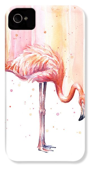 Pink Flamingo - Facing Right IPhone 4 Case