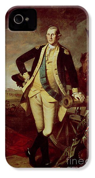 Portrait Of George Washington IPhone 4 Case by Charles Willson Peale