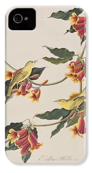 Rathbone Warbler IPhone 4 Case by John James Audubon