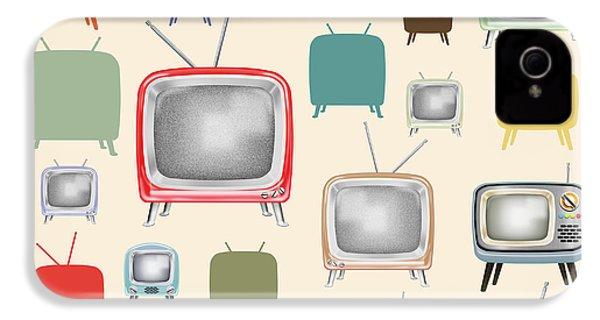 retro TV pattern  IPhone 4 / 4s Case by Setsiri Silapasuwanchai