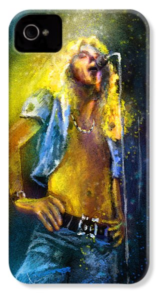Robert Plant 01 IPhone 4 / 4s Case by Miki De Goodaboom