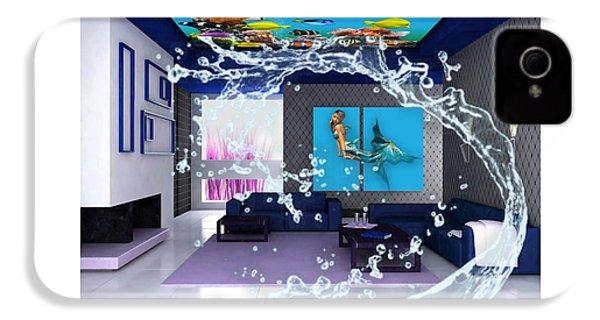 Rooftop Saltwater Fish Tank Art IPhone 4 Case