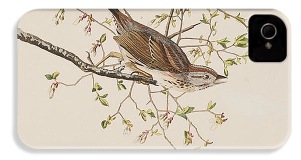 Song Sparrow IPhone 4 / 4s Case by John James Audubon
