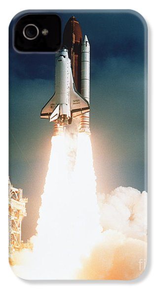 Space Shuttle Launch IPhone 4 Case by NASA Science Source