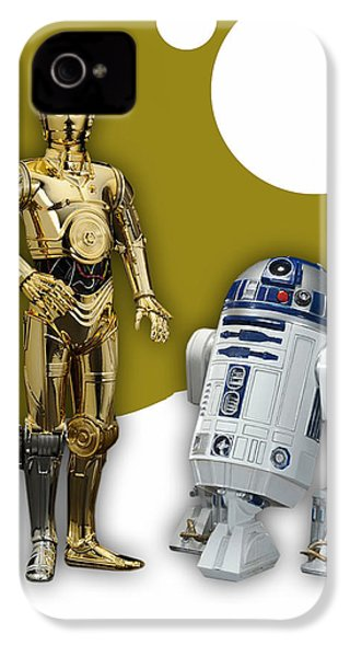 Star Wars C-3po And R2-d2 IPhone 4 / 4s Case by Marvin Blaine