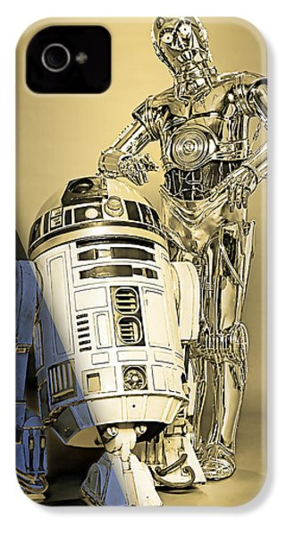 Star Wars C3po And R2d2 Collection IPhone 4 / 4s Case by Marvin Blaine