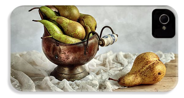 Still-life With Pears IPhone 4 Case by Nailia Schwarz