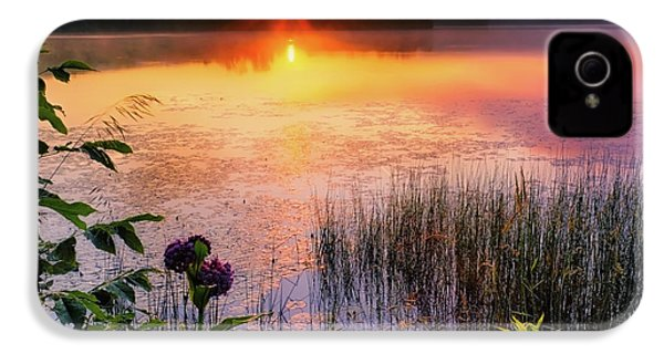 IPhone 4 Case featuring the photograph Summer Sunrise Square by Bill Wakeley