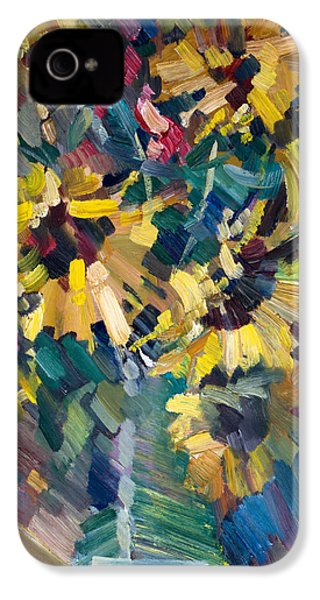 Sunflowers IPhone 4 Case by Nikolay Malafeev