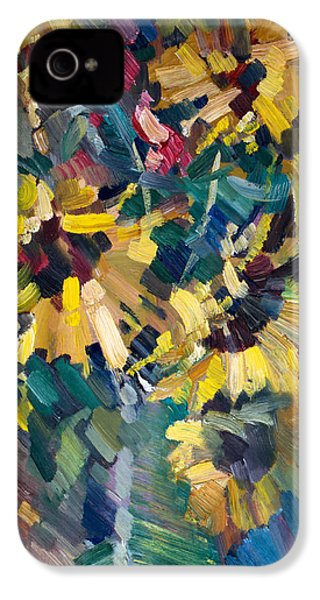 Sunflowers IPhone 4 Case by Nikolay Malafeev