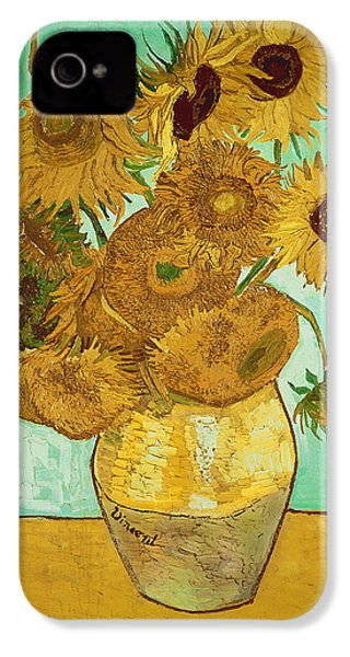 Sunflowers IPhone 4 / 4s Case by Vincent Van Gogh