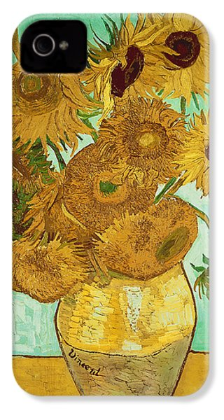 Sunflowers By Van Gogh IPhone 4 Case