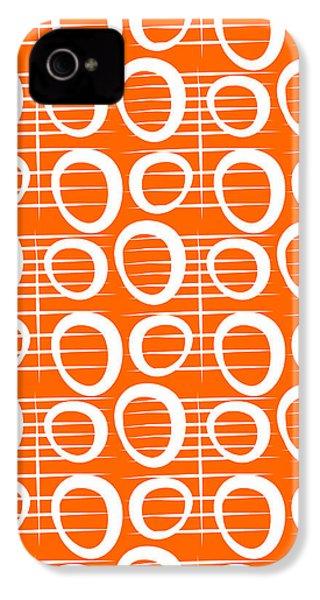 Tangerine Loop IPhone 4 Case by Linda Woods