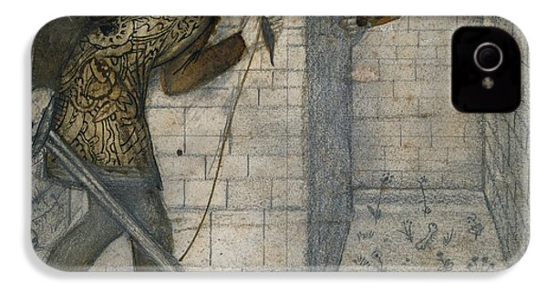 Theseus And The Minotaur In The Labyrinth IPhone 4 Case by Edward Burne-Jones