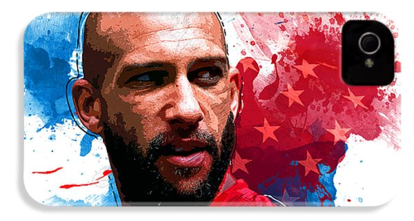 Tim Howard IPhone 4 Case by Semih Yurdabak