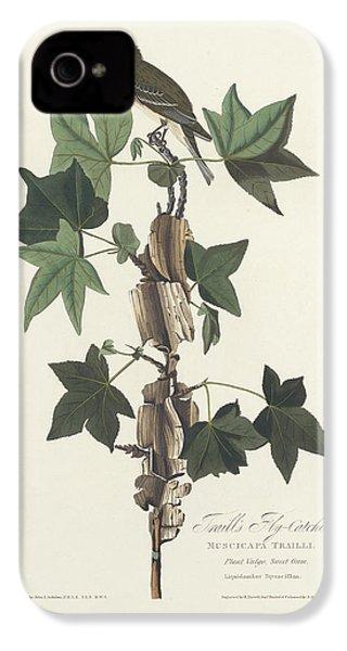 Traill's Flycatcher IPhone 4 Case by John James Audubon