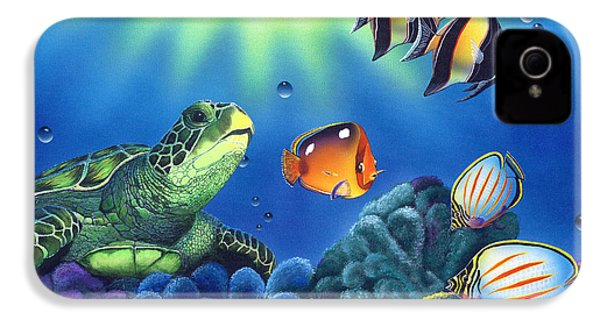 Turtle Dreams IPhone 4 Case by Angie Hamlin
