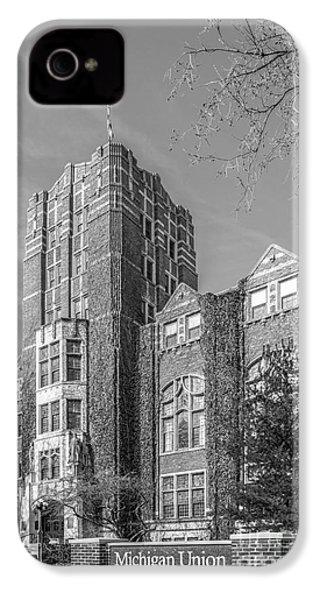 University Of Michigan Union IPhone 4 Case by University Icons