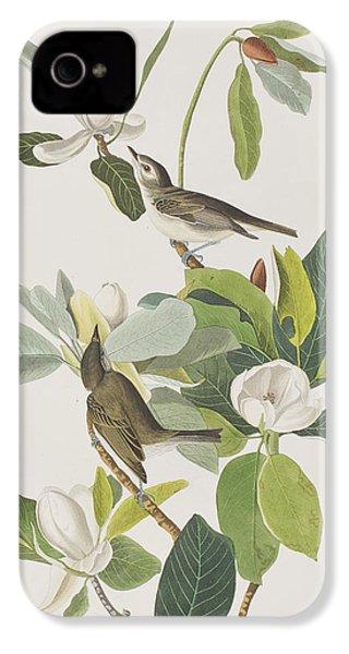 Warbling Flycatcher IPhone 4 Case by John James Audubon