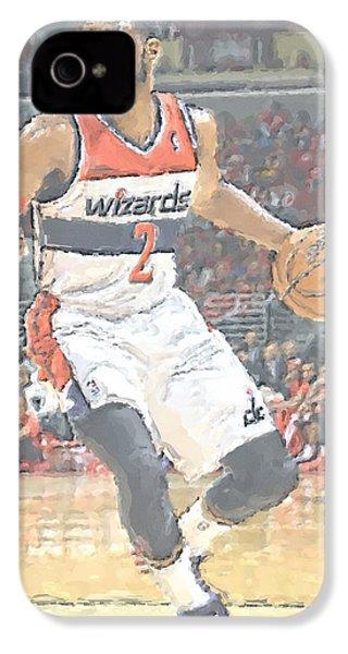 Washington Wizards John Wall IPhone 4 Case by Joe Hamilton
